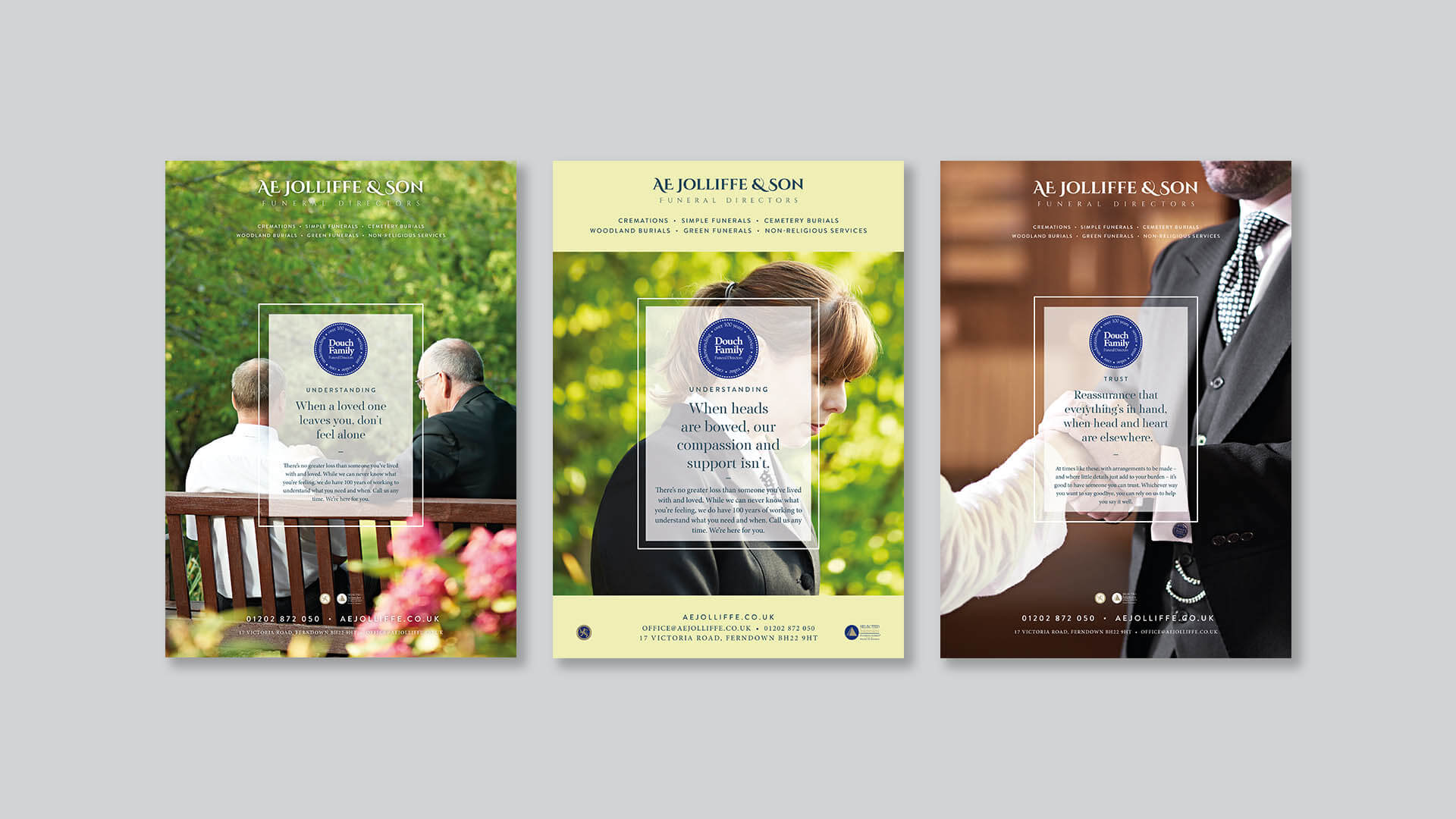 Douch Funeral Directors | We Are 778 Bournemouth Poole Branding Graphic Design Web Development Creative Agency